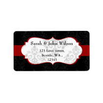 red black  ,return address label