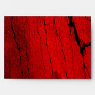 Red & Black Rock A7 Envelope