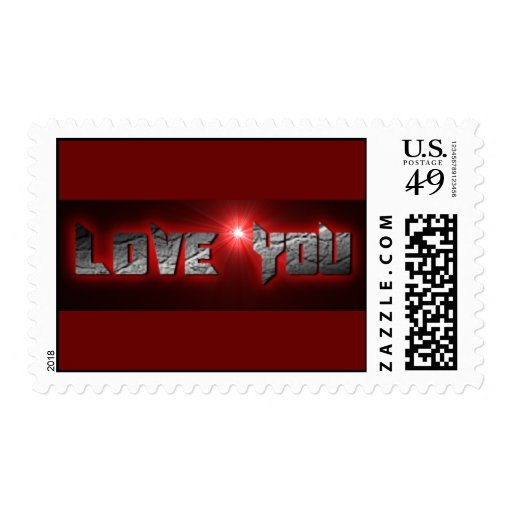 RED BLACK ROCK LOVE YOU COMMENTS EXPRESSIONS SAYIN STAMPS