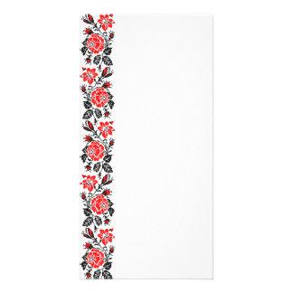 Red&Black Rose cross-stitch Russian Pattern Card