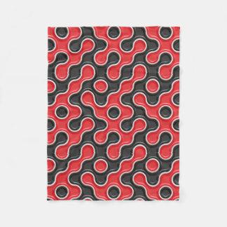 Red & Black Rotation Fleece BlanketBlue