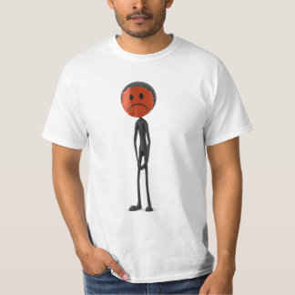 Red/black SAD Smiley Mask Shirt