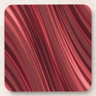 Red black shaded stripes drink coaster
