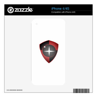 Red Black Sight Decal For The iPhone 4S