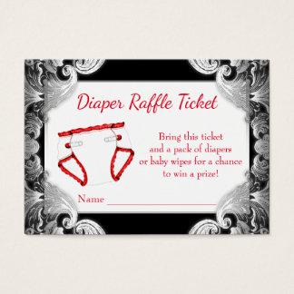 Red Black Silver Diaper Raffle Tickets