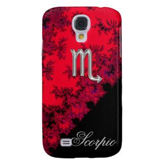 Red Black Silver Zodiac Sign Scorpio Galaxy S4 Case