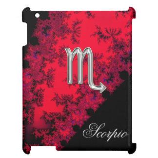 Red Black Silver Zodiac Sign Scorpio iPad Covers