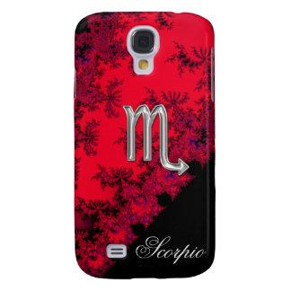 Red Black Silver Zodiac Sign Scorpio Samsung Galaxy S4 Cover