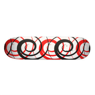 Red & Black Spiral Skateboard