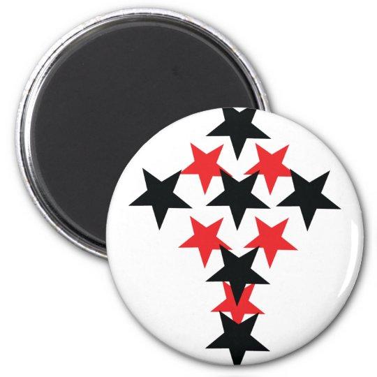 red-black star cross magnet