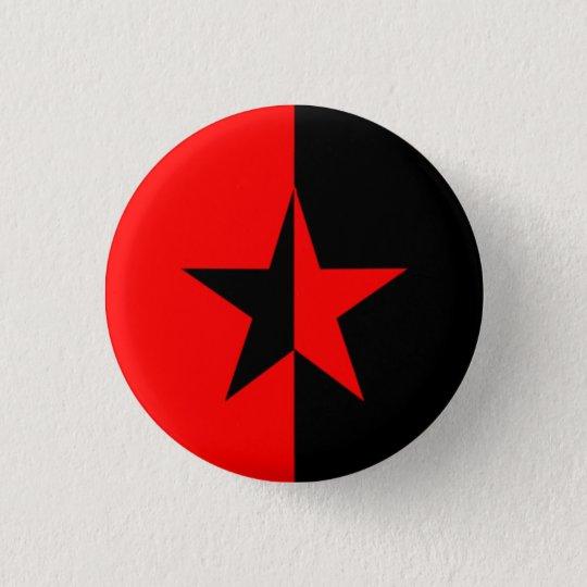 Red/Black Star Pinback Button
