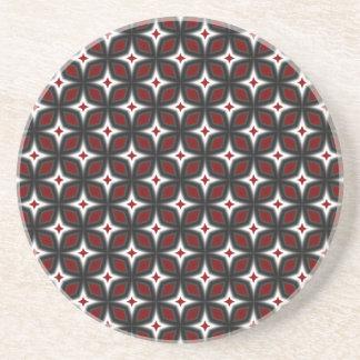 Red & Black Stargazer Art Thirsty Coaster