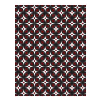 Red & Black Stargazer Scrapbook Craft Paper Pages