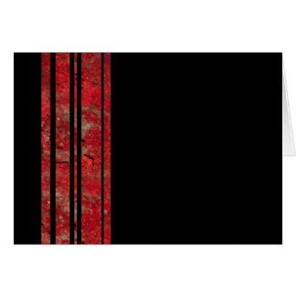 Red & Black Stripe Blank Note Card