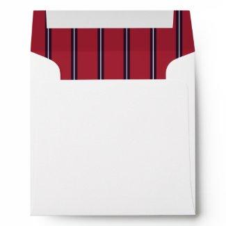 Red Black Stripe Envelope envelope