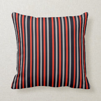 Red Black Stripes Pillows