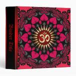 Red+Black Sunflower Aum Om Album Binder
