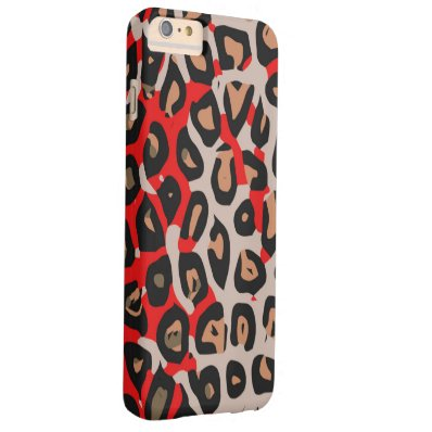 Red Black Tan Cheetah Barely There iPhone 6 Plus Case