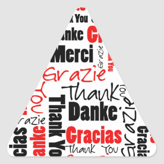 Red Black Thank You Word Cloud Sticker