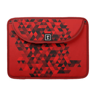 Red Black Triangles Pattern Sleeve For MacBook Pro