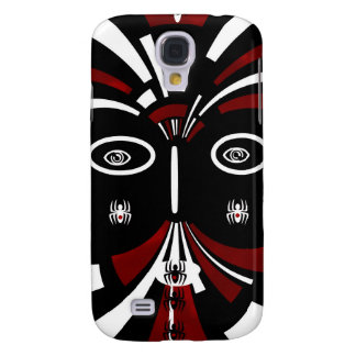 Red Black Tribal Abstract Art Galaxy S4 Cases