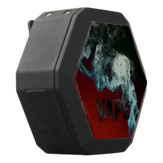 Red Black Turquoise Vape Clouds Black Bluetooth Speaker