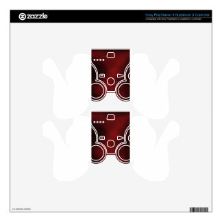 Red/Black Unique case Skins For PS3 Controllers