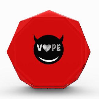 Red Black Vape Heart Rebel Acrylic Award