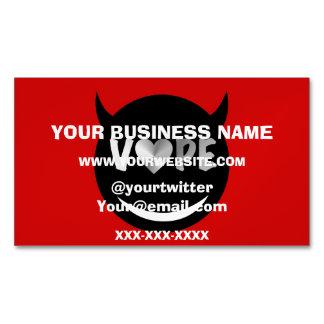 Red Black Vape Heart Rebel Magnetic Business Card