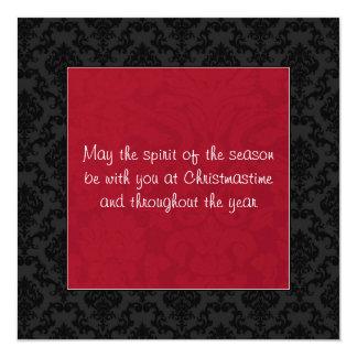 Red & Black Vintage Flat Holiday Cards