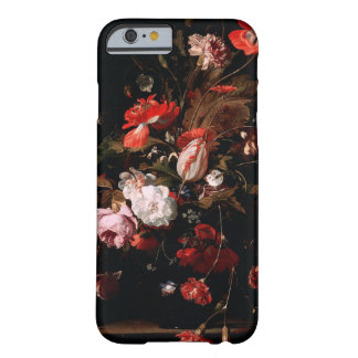 Red Black Vintage Floral Elegant iPhone Case
