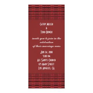 red black wedding card