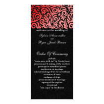 red black Wedding program