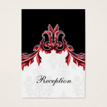 red black wedding Reception Cards