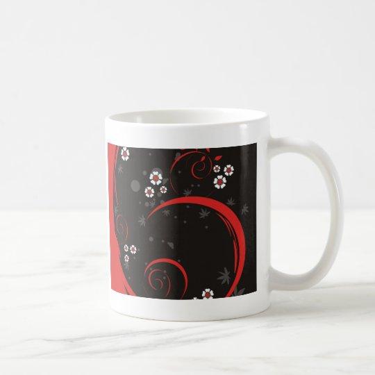 Red & Black Whimsy Coffee Mug