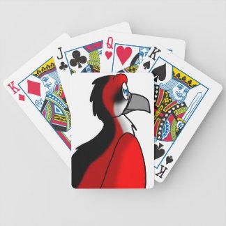 Red/Black/White Bird Hybrid Bicycle Playing Cards