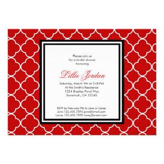 Red, Black & White Bridal Shower Invitation