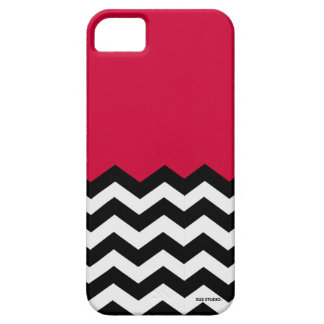 Red, Black & White Chevron Pattern Phone Case iPhone 5 Cover