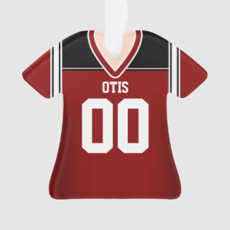 Red/Black/White Football Jersey Ornament