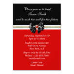 Red black white formal PERSONALIZE Announcement