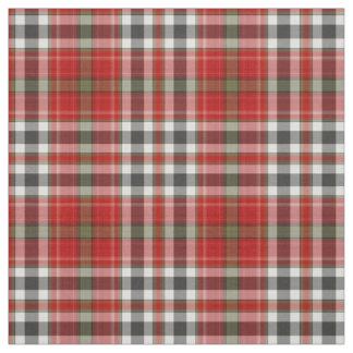 Red Black White Green Grey Tartan Plaid Fabric