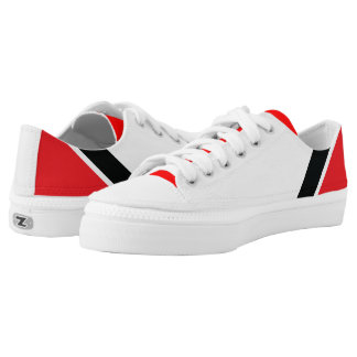 Red, Black & White Low-Top Sneakers