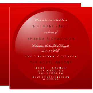 Red Black White Minimal Birthay New Home Party Card