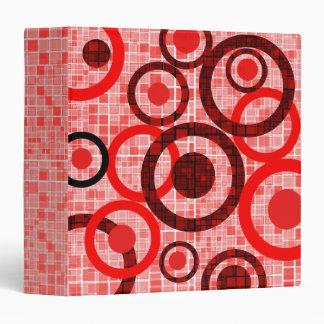 Red Black White Mosaic Circle Avery Binder