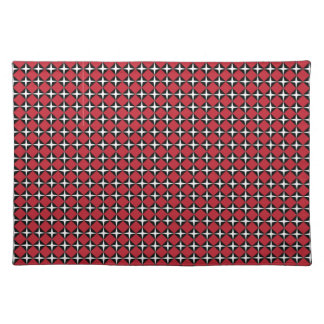 Red Black & White Star Diamonds Placemat