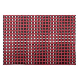 Red Black & White Star Diamonds Place Mat