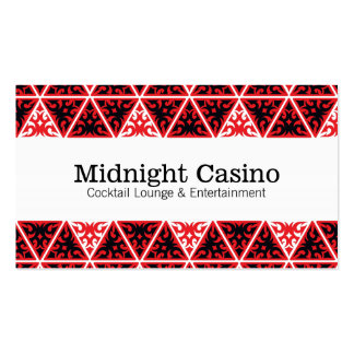 Red Black White Triangles Business Card