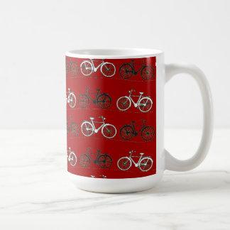 Red Black White Vintage Bicycles  Bikes Cycling Coffee Mug