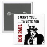 Red Black White Vote for Ron Paul Button