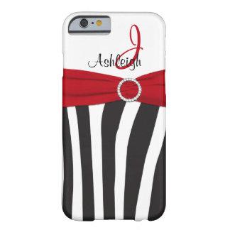 Red, Black, White Zebra Striped iPhone 6 case iPhone 6 Case